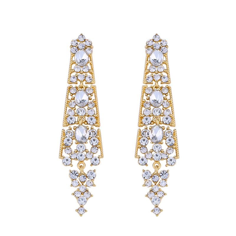 Imitated crystalCZ Vintage Geometric earring  Alloy  Fashion Jewelry NHAS0480Alloy