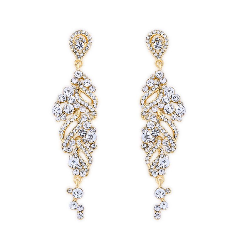 Imitated crystalCZ Simple Flowers earring  Alloy  Fashion Jewelry NHAS0487Alloy