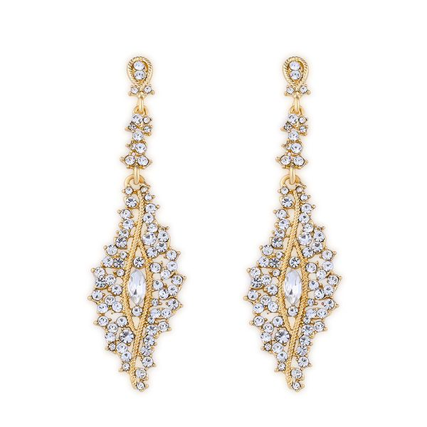 Imitated crystal&CZ Simple Flowers earring  (Alloy)  Fashion Jewelry NHAS0488-Alloy