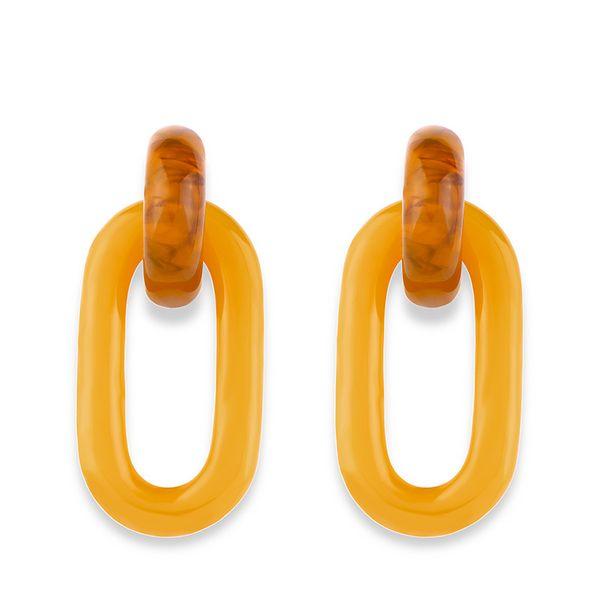 Acrylic Fashion Geometric earring  (Color)  Fashion Jewelry NHAS0490-Color