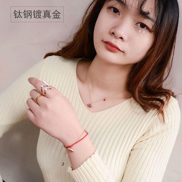 Titanium&Stainless Steel Korea  necklace  (Bracelet alloy 14+5cm)  Fine Jewelry NHOK0512-Bracelet-alloy-14+5cm