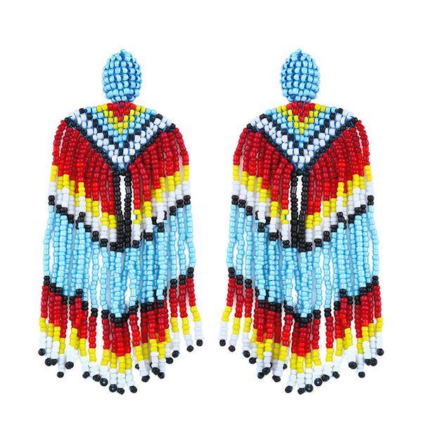 Plastic Bohemia Tassel earring  (Color)  Fashion Jewelry NHAS0494-Color