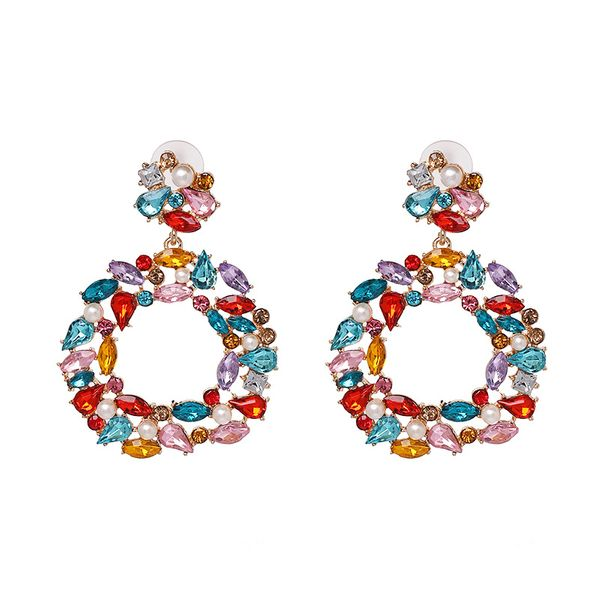 Alloy Fashion Geometric earring  (white)  Fashion Jewelry NHJJ5549-white