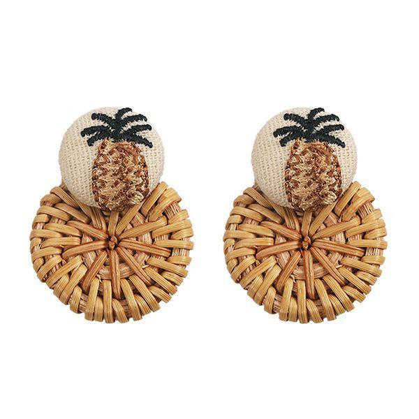 Alloy Fashion bolso cesta earring  (brown)  Fashion Jewelry NHJQ11260-brown