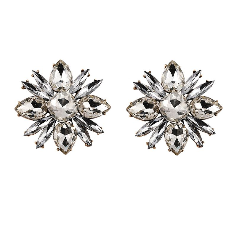 Alloy Fashion Flowers earring  (white)  Fashion Jewelry NHJQ11263-white