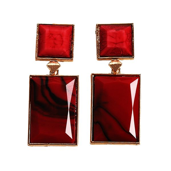Acrylic Fashion Geometric earring  (red)  Fashion Jewelry NHJQ11264-red