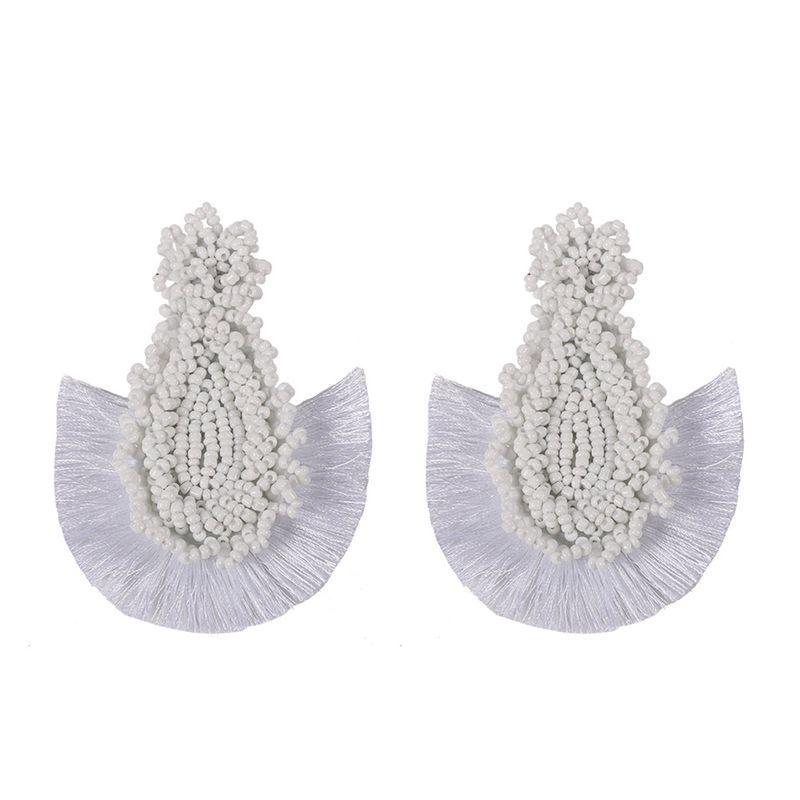 Alloy Bohemia Tassel earring  white  Fashion Jewelry NHJQ11267white