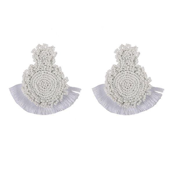 Alloy Bohemia Tassel earring  (white)  Fashion Jewelry NHJQ11268-white