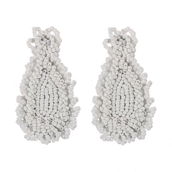 Alloy Fashion Tassel earring  (white)  Fashion Jewelry NHJQ11269-white