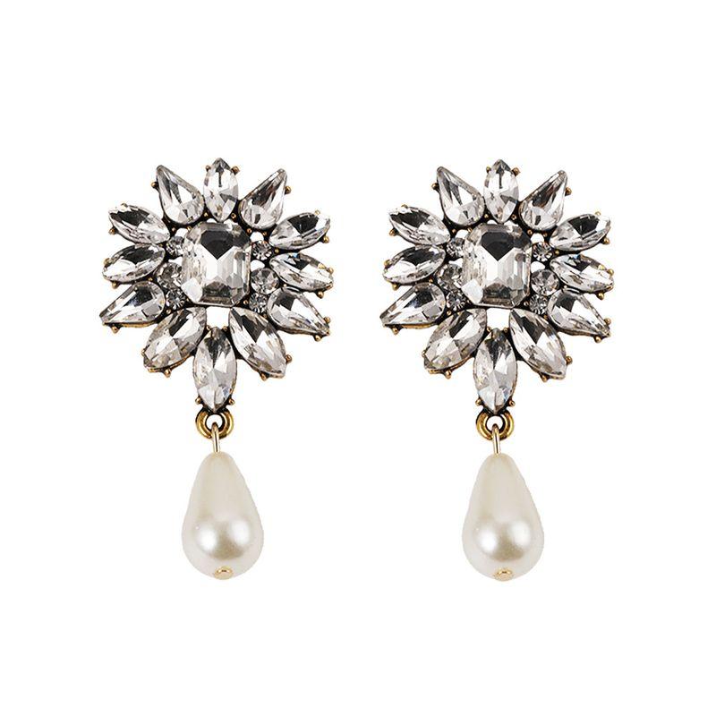 Alloy Fashion Geometric earring  (white)  Fashion Jewelry NHJQ11272-white