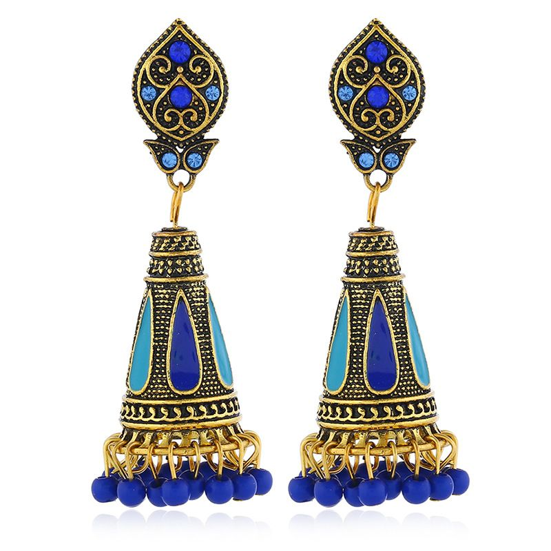 Alloy Bohemia Flowers earring  (Baolan Gujin)  Fashion Jewelry NHKQ2320-Baolan-Gujin