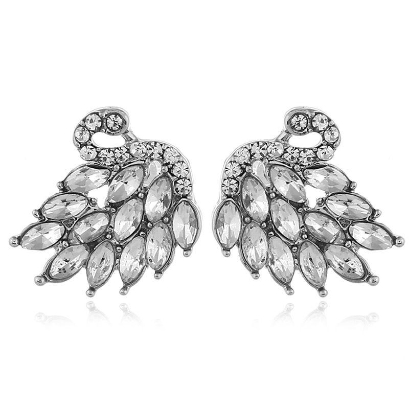 Alloy Korea Animal earring  (White white K)  Fashion Jewelry NHKQ2321-White-white-K