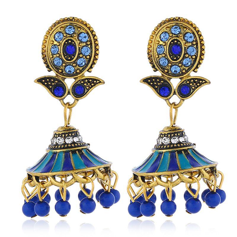 Alloy Bohemia Flowers earring  (Baolan Gujin)  Fashion Jewelry NHKQ2323-Baolan-Gujin