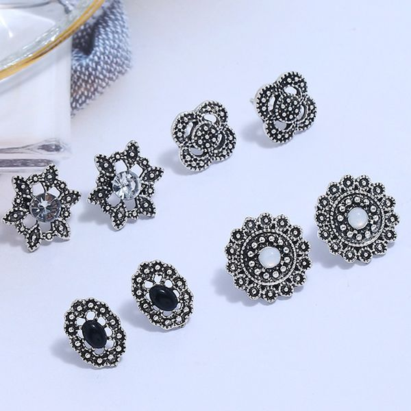 Alloy Fashion Flowers earring  (Ancient alloy)  Fashion Jewelry NHKQ2335-Ancient-alloy