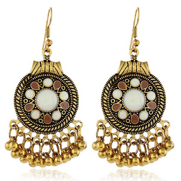 Alloy Fashion Tassel earring  (White alloy)  Fashion Jewelry NHKQ2337-White-alloy