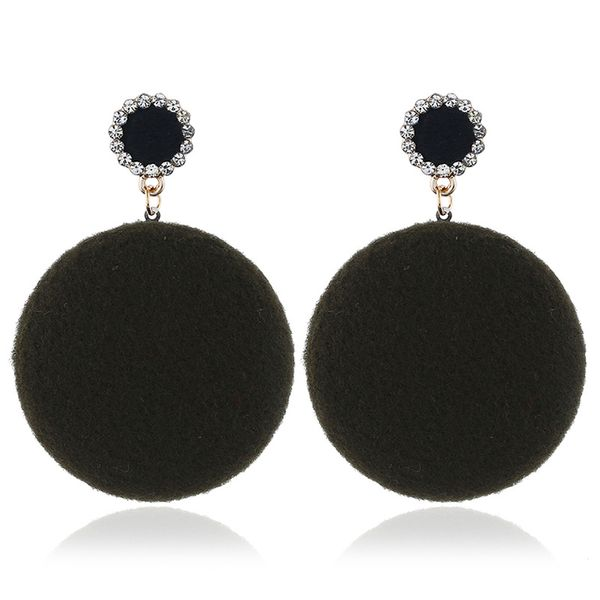 Alloy Fashion Geometric earring  (Olive Green KC Alloy)  Fashion Jewelry NHKQ2341-Olive-Green-KC-Alloy