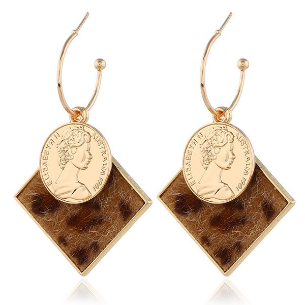 Alloy Fashion Geometric earring  (Coffee KC Alloy)  Fashion Jewelry NHKQ2345-Coffee-KC-Alloy