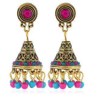 Alloy Bohemia Flowers earring  (Colorful ancient alloy)  Fashion Jewelry NHKQ2357-Colorful-ancient-alloy's discount tags