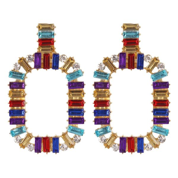 Alloy Fashion Cross earring  (color)  Fashion Jewelry NHMD5181-color