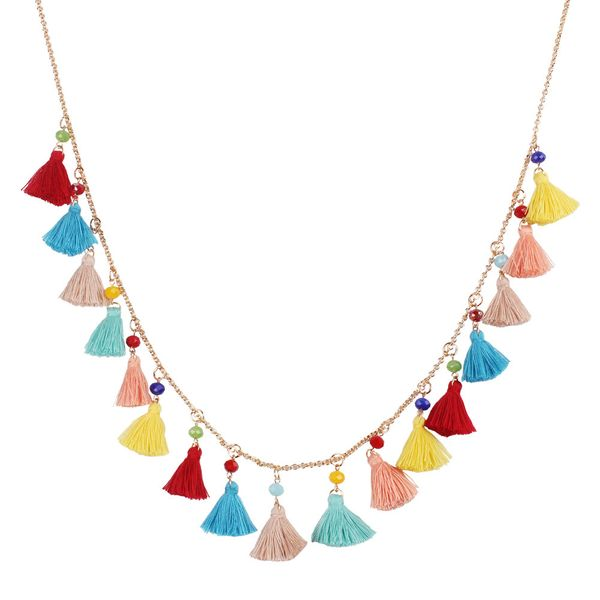 Alloy Vintage Tassel necklace  (color)  Fashion Jewelry NHMD5182-color