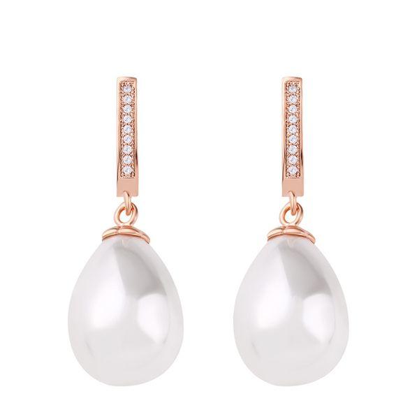 Beads Korea Geometric earring  (Rose alloy)  Fashion Jewelry NHAS0515-Rose-alloy