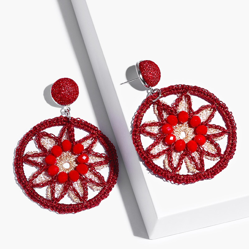 Alloy Fashion Geometric earring  (red)  Fashion Jewelry NHAS0516-red