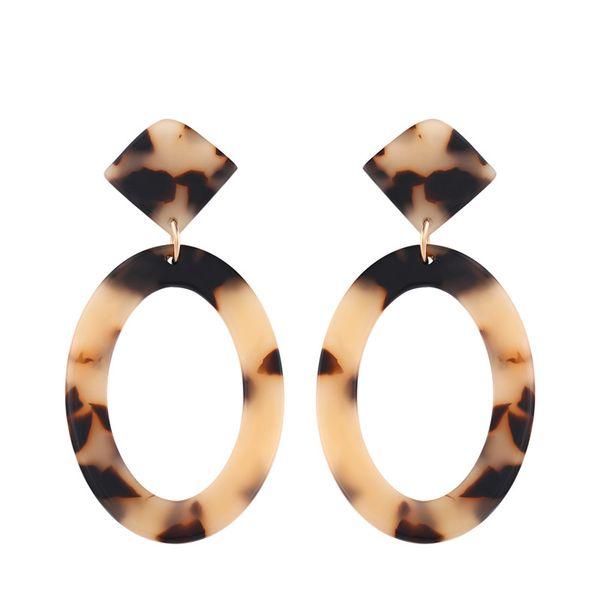 Acrylic Fashion Geometric earring  (Light leopard)  Fashion Jewelry NHAS0524-Light-leopard