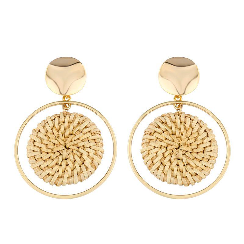 Alloy Fashion Geometric earring  (Erp39 beige)  Fashion Jewelry NHAS0527-Erp39-beige
