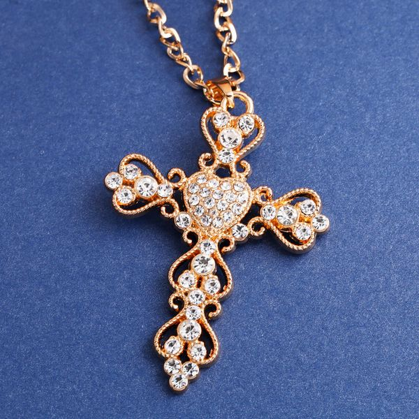 Alloy Fashion Cross necklace  (Alloy)  Fashion Jewelry NHAS0541-Alloy