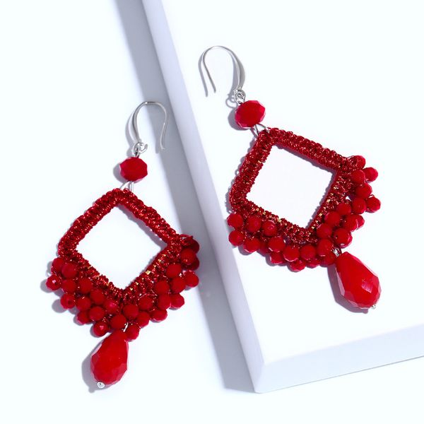 Plastic Vintage bolso cesta earring  (red)  Fashion Jewelry NHAS0545-red