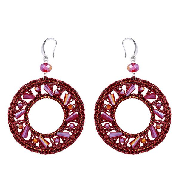 Plastic Simple bolso cesta earring  (red)  Fashion Jewelry NHAS0546-red