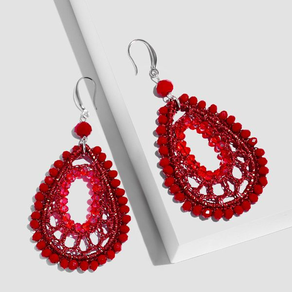 Alloy Fashion Geometric earring  (red)  Fashion Jewelry NHAS0548-red