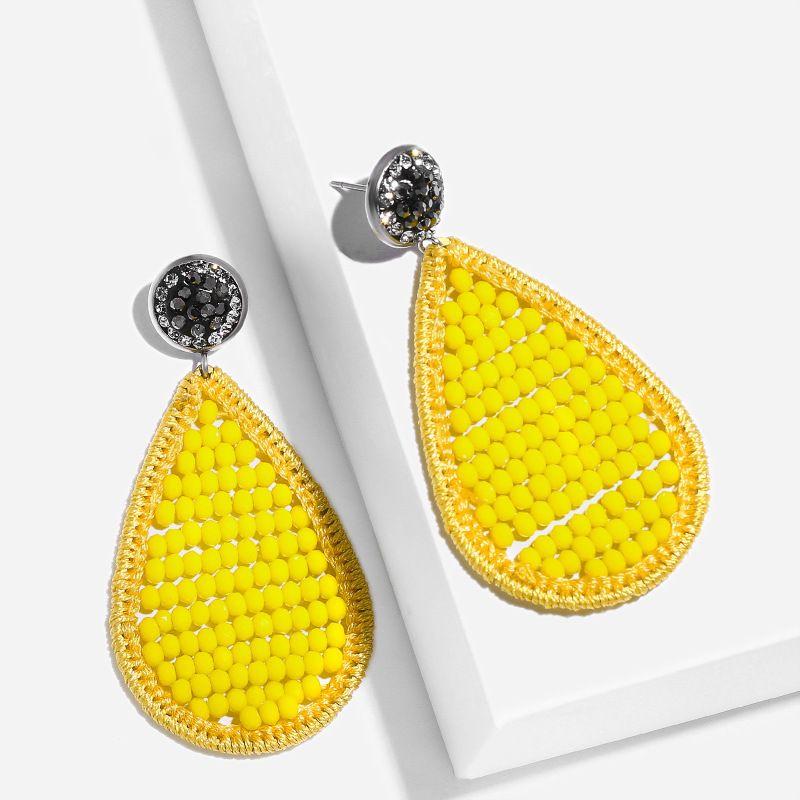 Alloy Fashion Geometric earring  (yellow)  Fashion Jewelry NHAS0559-yellow