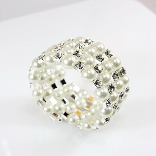 Alloy Korea Geometric bracelet  (white)  Fashion Jewelry NHAS0565-white