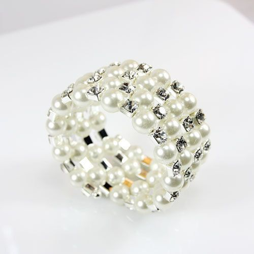 Alloy Korea Geometric bracelet  white  Fashion Jewelry NHAS0565white