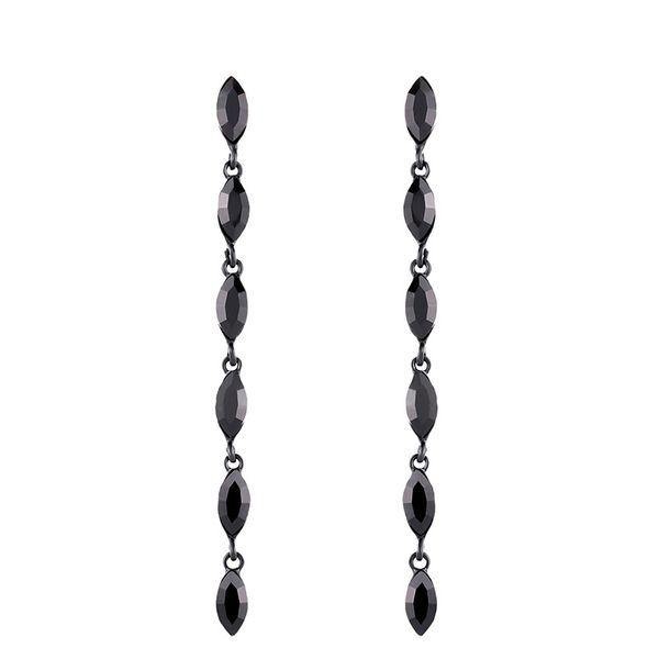 Alloy Fashion Geometric earring  (black)  Fashion Jewelry NHAS0571-black