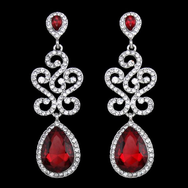 Alloy Fashion Geometric earring  (red)  Fashion Jewelry NHAS0585-red