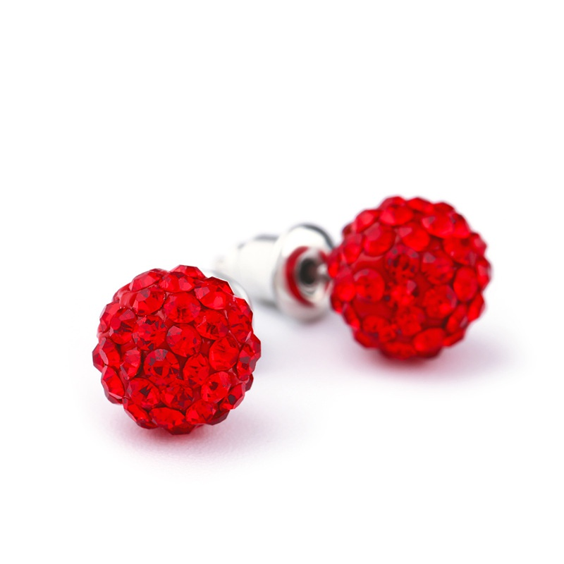 Alloy Korea Geometric earring  (red)  Fashion Jewelry NHAS0595-red