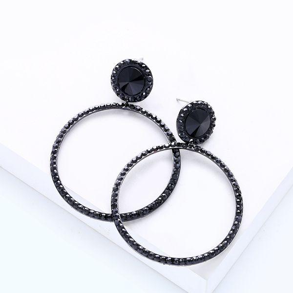 Alloy Fashion Geometric earring  (black)  Fashion Jewelry NHAS0601-black
