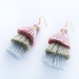 Cloth Bohemia Tassel earring  (1)  Fashion Jewelry NHAS0615-1's discount tags