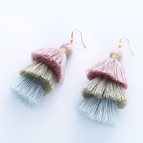 Cloth Bohemia Tassel earring  (1)  Fashion Jewelry NHAS0615-1's discount tags