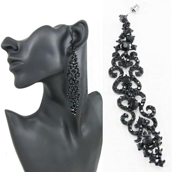 Alloy Fashion Tassel earring  (black)  Fashion Jewelry NHAS0616-black