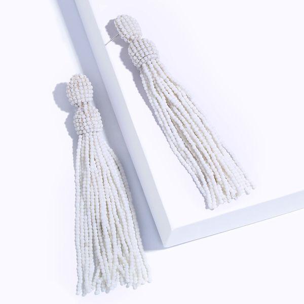Alloy Fashion Tassel earring  (white)  Fashion Jewelry NHAS0617-white