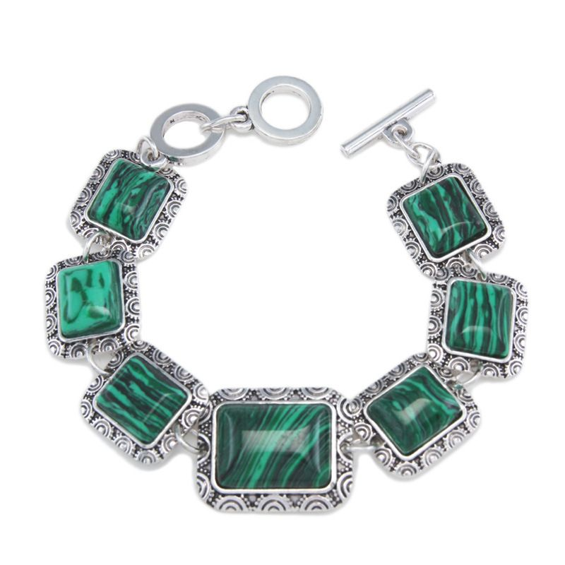 Alloy Vintage Geometric bracelet  green  Fashion Jewelry NHAS0618green