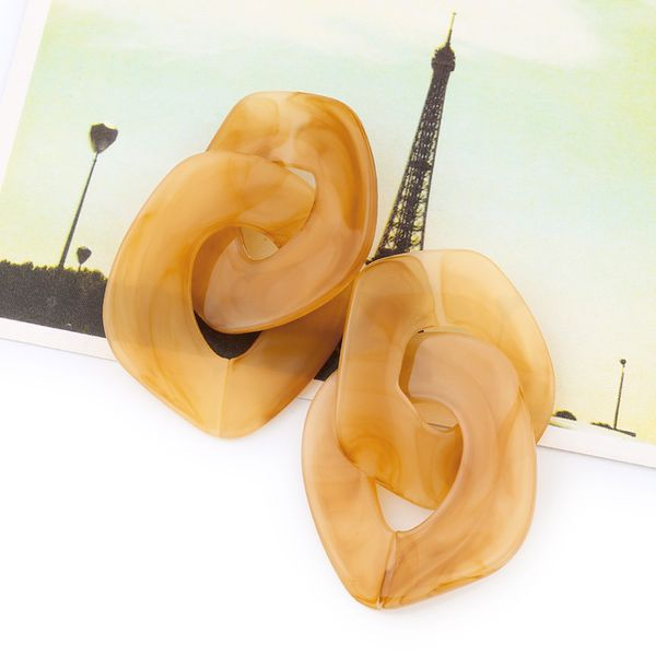 Acrylic Fashion Geometric earring  (yellow)  Fashion Jewelry NHAS0620-yellow