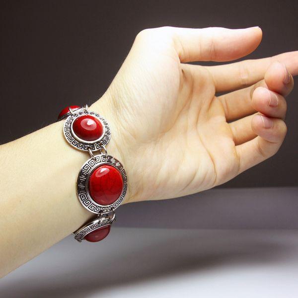Alloy Bohemia Geometric bracelet  (red)  Fashion Jewelry NHAS0626-red