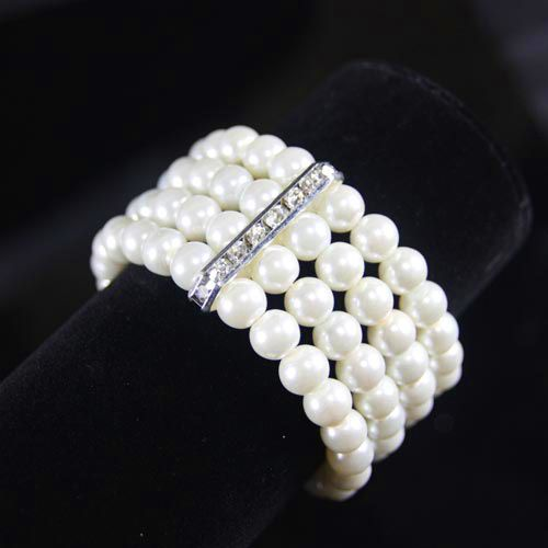 Beads Korea Geometric bracelet  (white)  Fashion Jewelry NHAS0631-white
