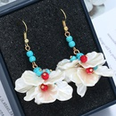 Plastic Fashion Flowers earring  Colorful KC alloy  Fashion Jewelry NHKQ2328ColorfulKCalloy