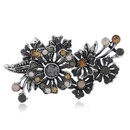 Alloy Vintage Flowers brooch  Gray ancient alloy  Fashion Jewelry NHKQ2348Grayancientalloy