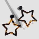 Acrylic Fashion Geometric earring  Pink  Fashion Jewelry NHAS0503Pink